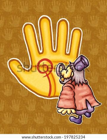 Palmistry image - stock photo