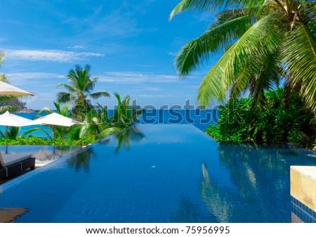 Palms Rest Hotel - stock photo