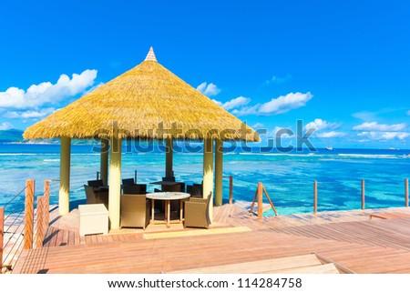 Palms Sea Pool - stock photo