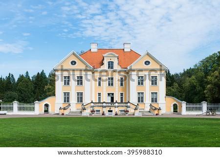 Palmse Manor Exterior Baroque Style 18th Century Lahemaa National Park Estonia