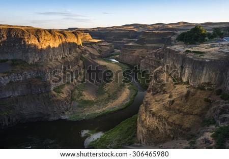 Palouse Falls and Canyon, Washington USA - stock photo