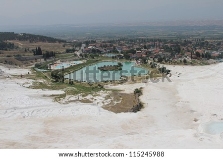 Pamukkale - terraces of carbonate minerals left by the flowing water