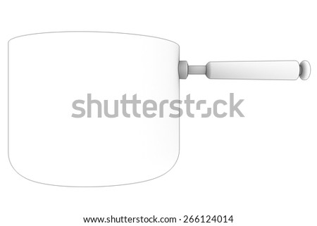 pan. Isolated on white background. 3d