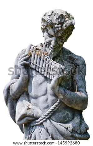 pan stone statue - stock photo