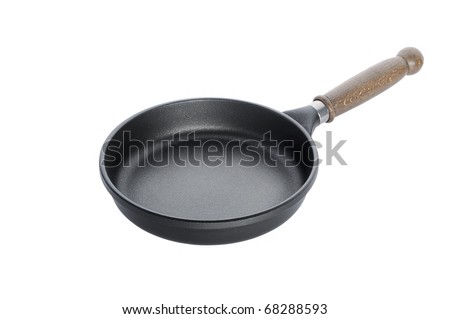 Pan with handle on white background