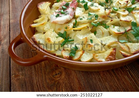 Panackelty -  casseroled dish, traditional throughout the northeast of England potato stew