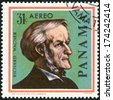 PANAMA - CIRCA 1966: A stamp printed in Panama shows portrait of Richard Wagner (1813-1883), German composers, series Famous Men, circa 1966 - stock photo