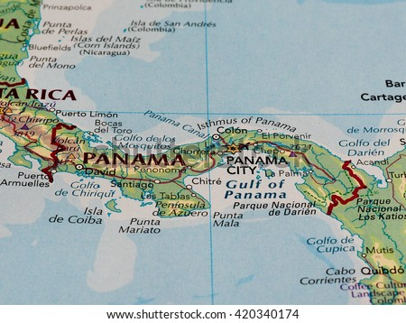 Panama Map Stock Images RoyaltyFree Images Vectors Shutterstock - Gulf map of panama