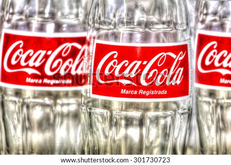 PANAMA CITY, PANAMA - JULY 31, 2015: Coca-Cola  is produced by The Coca-Cola Company of Atlanta, Georgia, and is often referred to simply as Coke