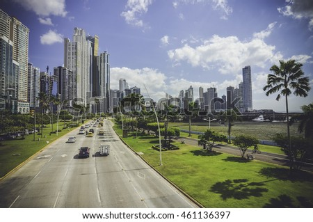 Panama City skyline view
