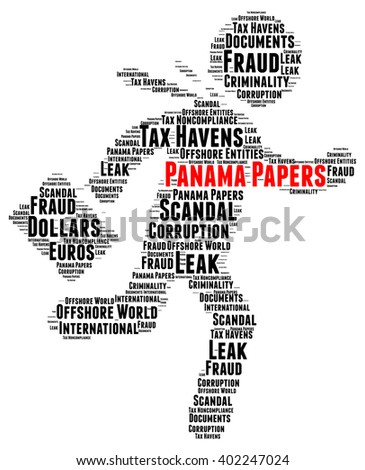 Panama papers word cloud concept - stock photo