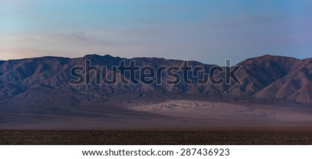 Panamint Sand Dunes in Death Valley, California
