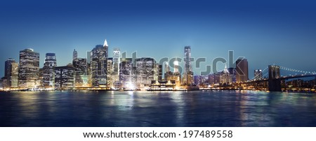 Panaroma of New York city. - stock photo