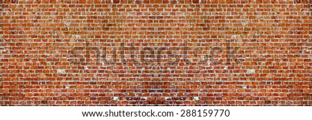Panaromic Brick Wall - stock photo