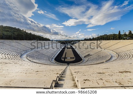 Panathenaic stadium(kallimarmaro) in Athens,Greece - stock photo