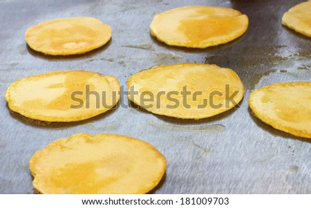 pancake on a hot stove