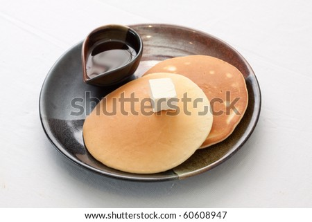 Pancake on the white background. - stock photo