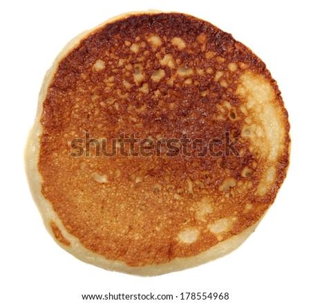 pancakes on a white background.