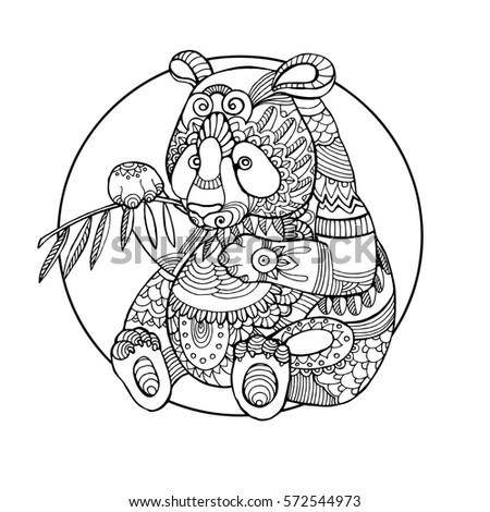 Panda Coloring Book for Adult