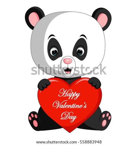Panda Cartoon Love