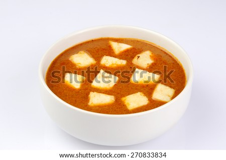 Paneer Makhani or Shahi Paneer (Paneer Butter Masala) - stock photo