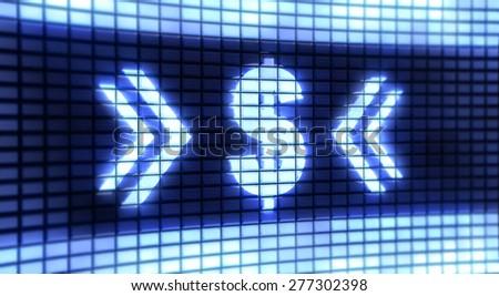 Panel Dollar - stock photo
