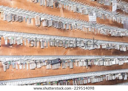 panel keys to a locksmith - stock photo