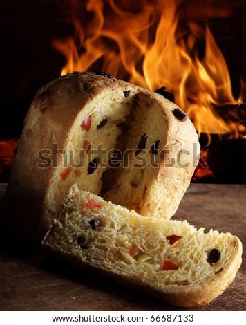 Panettone oven - stock photo