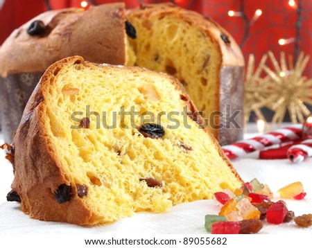 Panettone traditional Christmas sweet