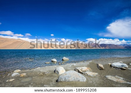 Pangong Lake, is an endorheic lake in the Himalayas