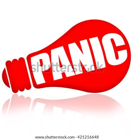 Panic - stock photo