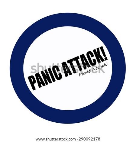 PANIC ATTACK black stamp text on white - stock photo
