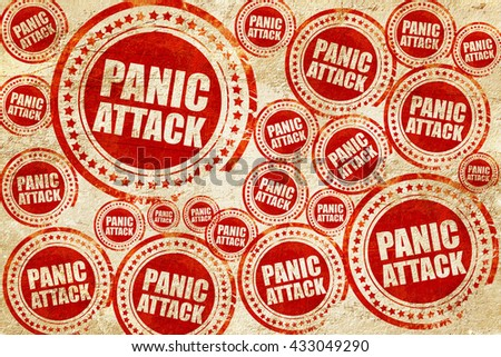 panic attack, red stamp on a grunge paper texture - stock photo