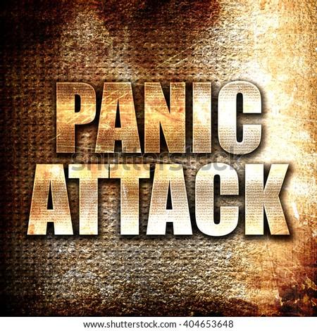 panic attack, written on vintage metal texture - stock photo