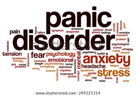 Panic disorder word cloud concept - stock photo