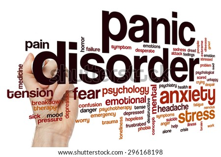 Panic disorder word cloud concept - stock photo