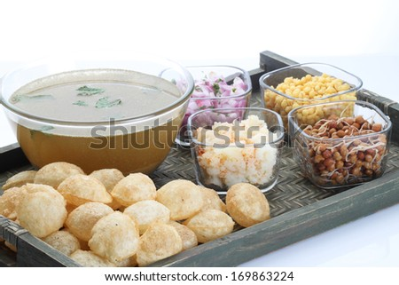 Panipuri or Gol Gappa - stock photo