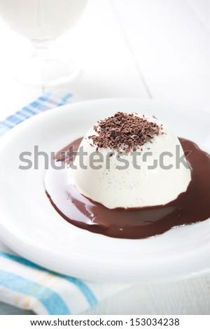Panna cotta a traditional italian dessert - stock photo