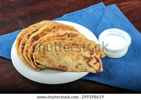 Panner (Indian Name For Cottage Cheese) Paratha, Indian Food, Punjabi Food,