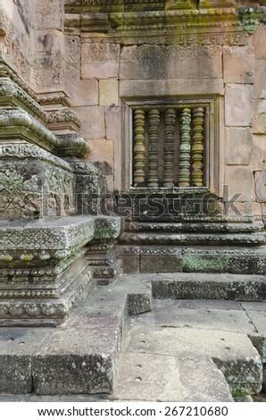 Panomrung sanctuary the famous Khmer art sanctuary in Thailand - stock photo