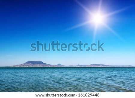 Panorama at Lake Balaton, Hungary  - stock photo
