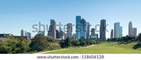 Panorama Center Houston, Downtown in the day. Texas, United States