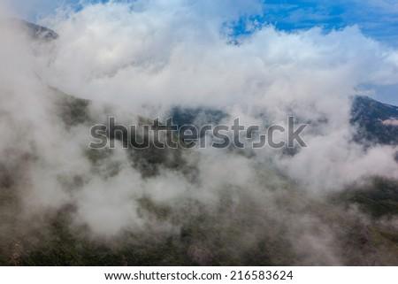 Panorama clouds - stock photo
