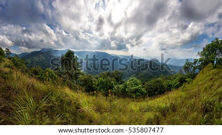 Panorama Doi Pha Ngom at Chiangmai,Thailand.
