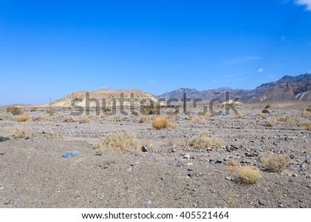 Panorama from Death Valley, California, USA. Desolate desert - stock photo