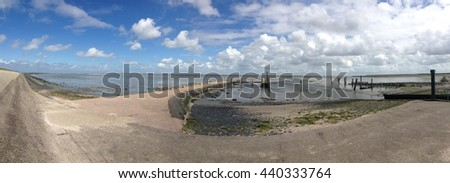 Panorama from the Waddensea in Texel The Netherlands