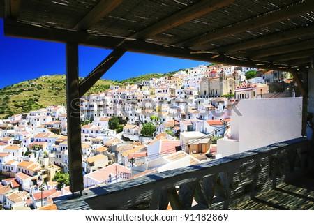 panorama from veranda - stock photo