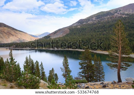 Panorama from Yosemite National Park along the Tioga Pass road, California, USA