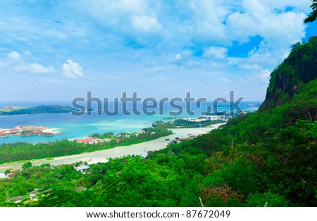 Panorama Harbor Landscape - stock photo