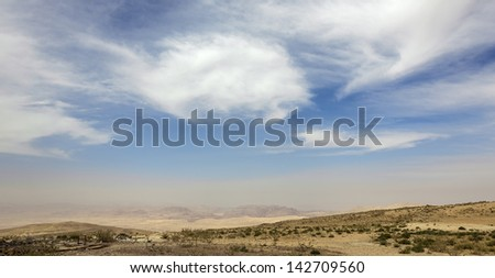Panorama mountain pass - Jordan - stock photo